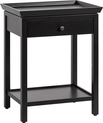 Neptune aldwych warm black tall side table for Tall black end table