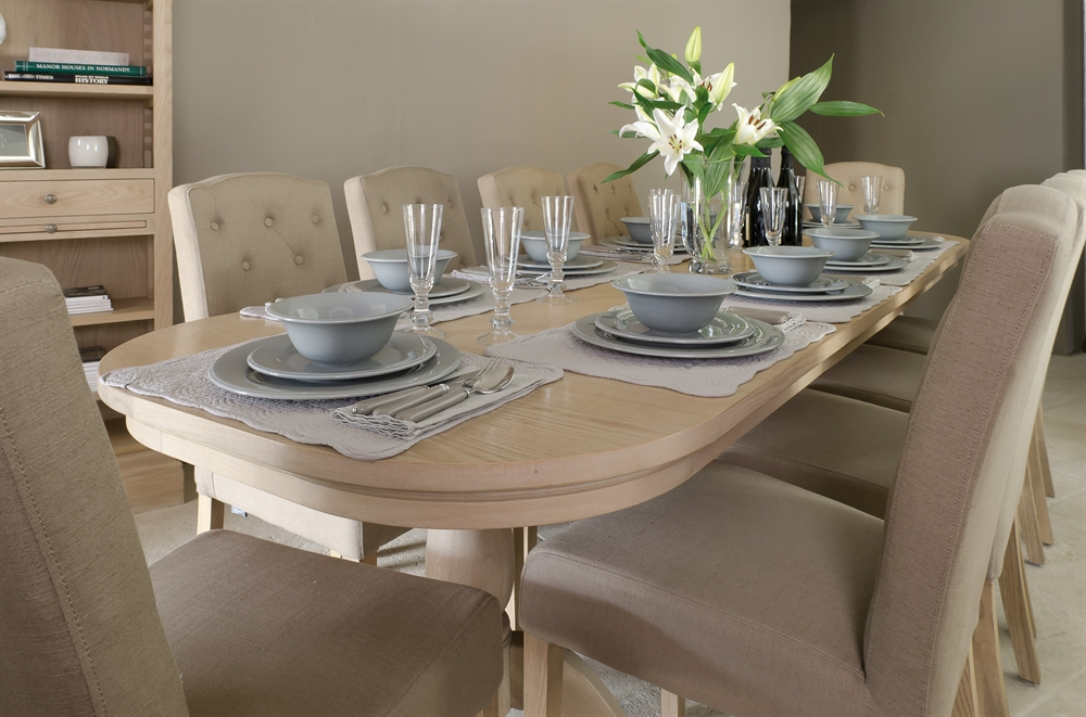 Neptune Henley Extending Oval Table Dining Room Furniture