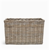 Somerton Rectangular log basket, medium