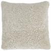 Tussock Sheepskin Cushion 45x45cm, Pearl