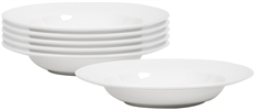 Fenton Soup Plates, set of 6, White