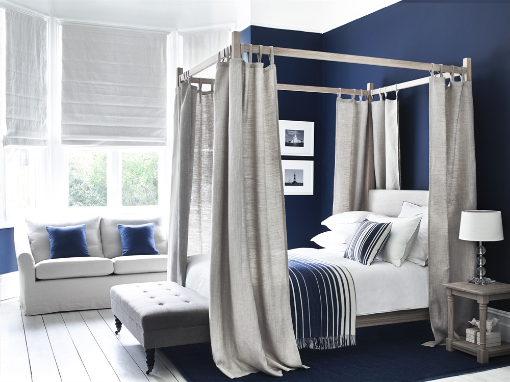 Four Poster Bed Curtains Uk Neptune