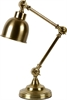 Brompton Desk Light, Antique Brass