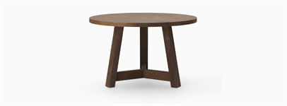 Arundel 4 Seater Round Dining Table, Darkened Oak