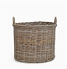 Somerton Round log basket, large