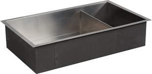 Neptune Contemporary Stainless Steel Sink With Wastes Large