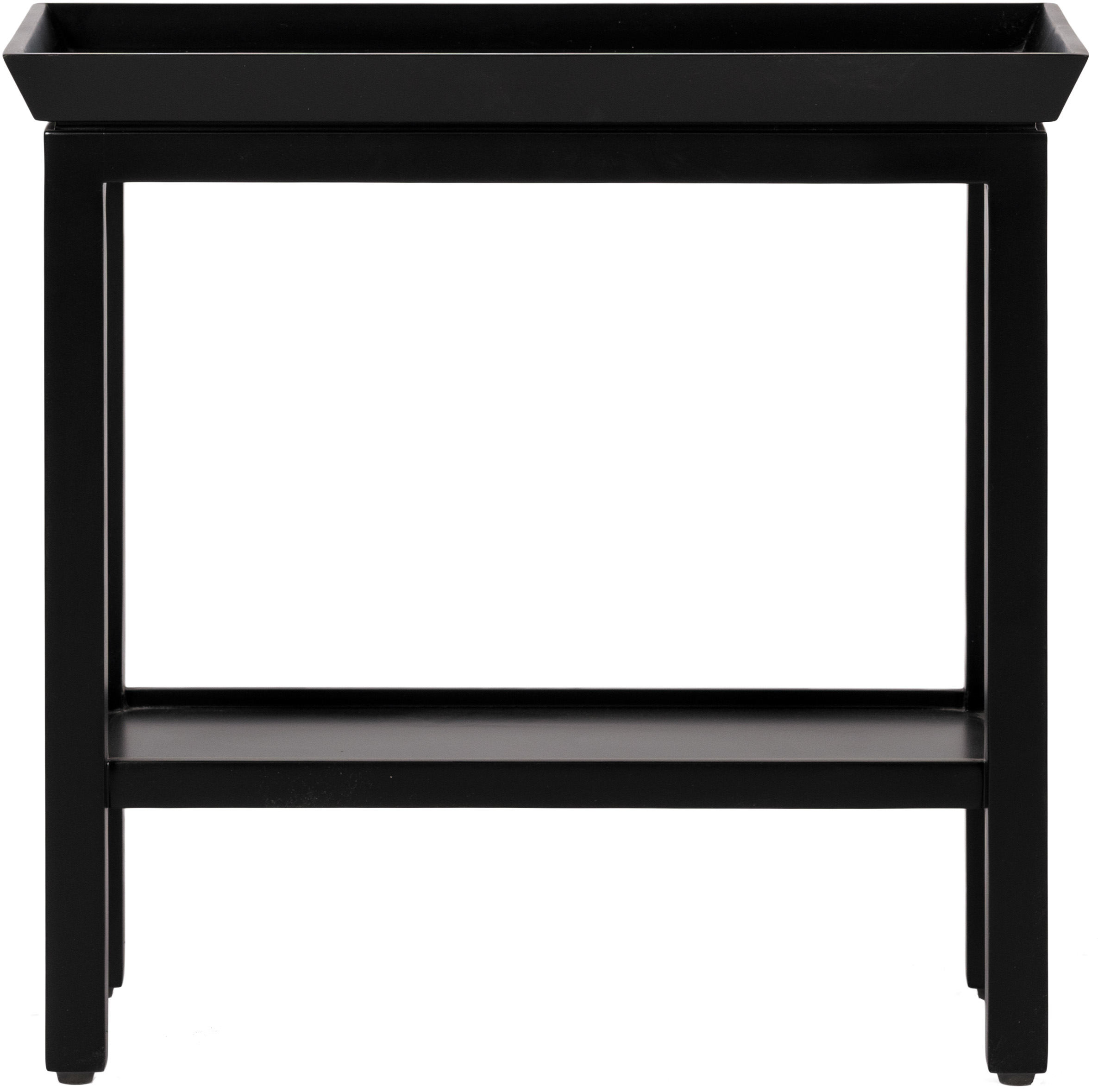 Aldwych Rectangular Side Table, Warm Black