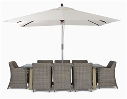 Stanway Bluestone 8 Seater & Stanway Carver Set with Parasol