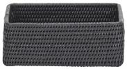 Ashcroft Rectangular Box Tray, Medium, Charcoal