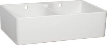 Villeroy & Boch Ceramic Double Bowl Sink with wastes