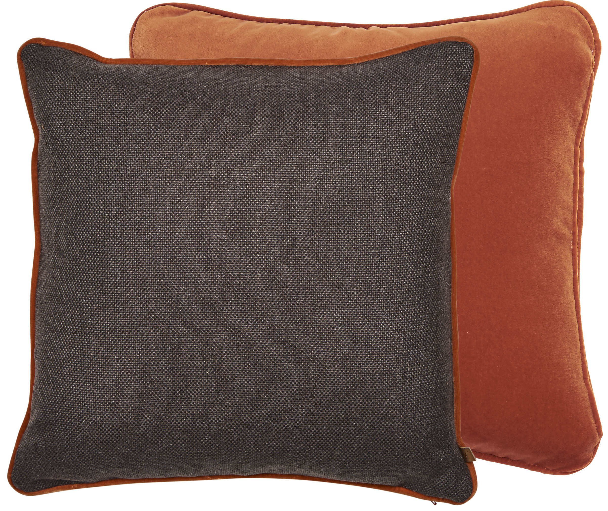 Camilla Cushion 45x45cm, Hugo Dark Rye & Isla Fox
