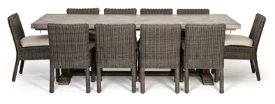 Hove Rectangular 8 Seater & Toulston Chairs Set