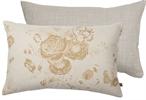 Delilah Cushion 35x55cm, Emma Mustard & Imogen Holkham Sand
