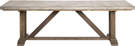 Hove 240 Rectangular Table - Concrete & Teak