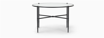 Coniston 75 Low Round Coffee Table - Black Bronze