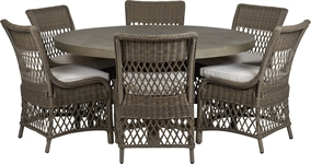 Hove Round 6 Seater & Harrington Dining Chair Set