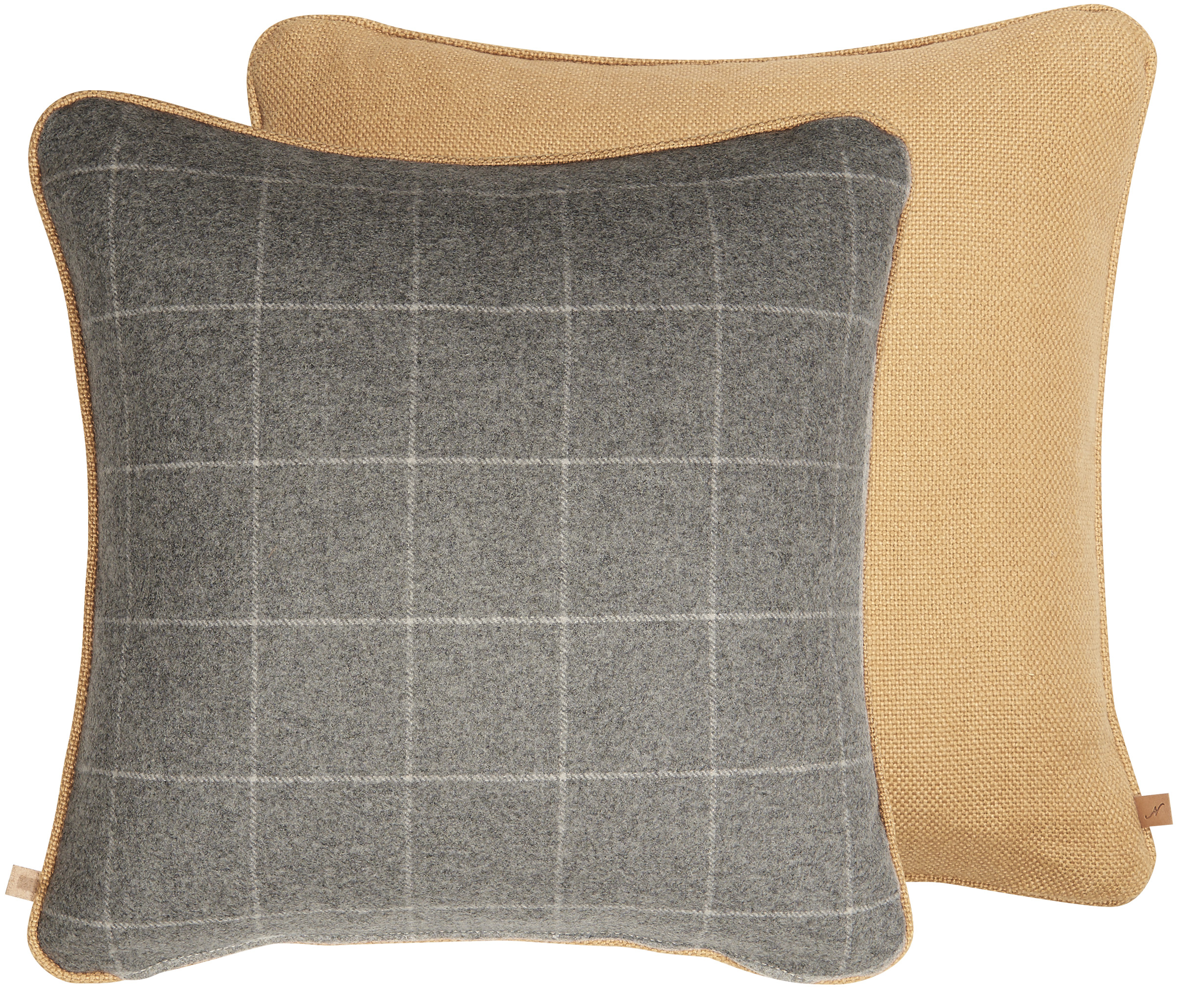 Camilla Cushion 45x45cm, Hugo Mustard & Ewan Dove
