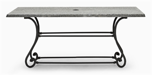 Cheltenham 170 Rectangular Table - Metal & Granite