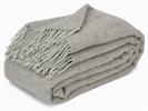 Melford British Wool Throw, Grey