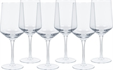Hoxton Red Wine Glasses, set of 6