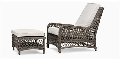 Harrington Relaxed Armchair with Footstool