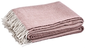 Cotswold Herringbone Throw, Old Rose