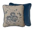 Delilah 35x55cm Satter Cushion, Pink Geometric