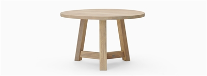Arundel 4 Seater Round Dining Table, Natural Oak
