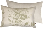 Delilah Cushion 35x55cm, Emma Sage & Clara Warm White