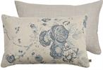 Delilah Cushion 35x55cm, Emma Teal & Imogen Holkham Sand