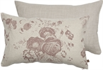 Delilah Cushion 35x55cm, Emma Old Rose & Imogen Holkham Sand