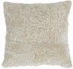 Tussock Sheepskin Cushion 57x57cm, Pearl