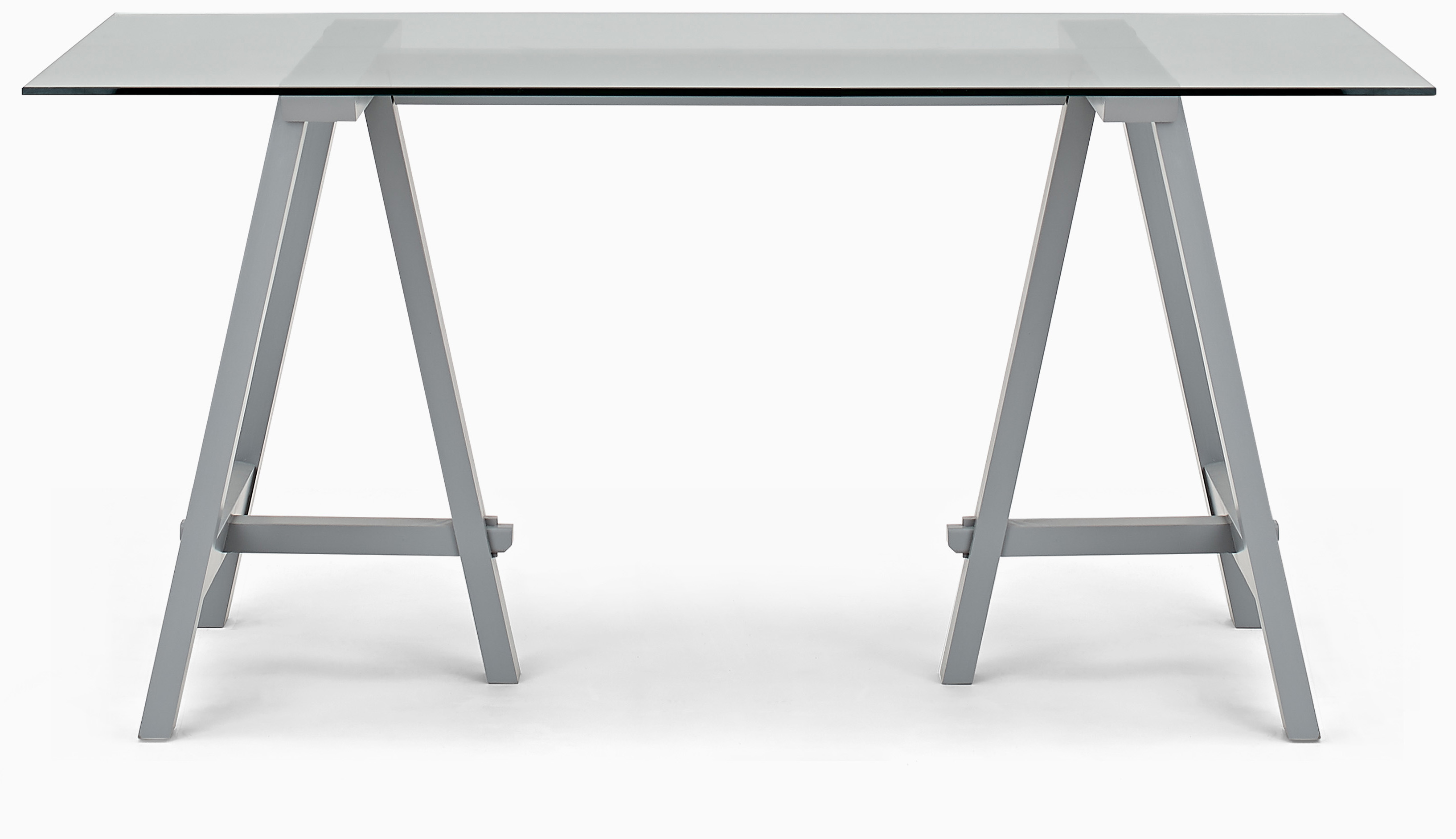 Hebden Dining Table, Glass Top & Painted Legs