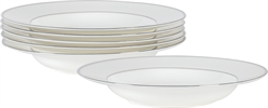 Fenton Soup Plates, set of 6, Platinum