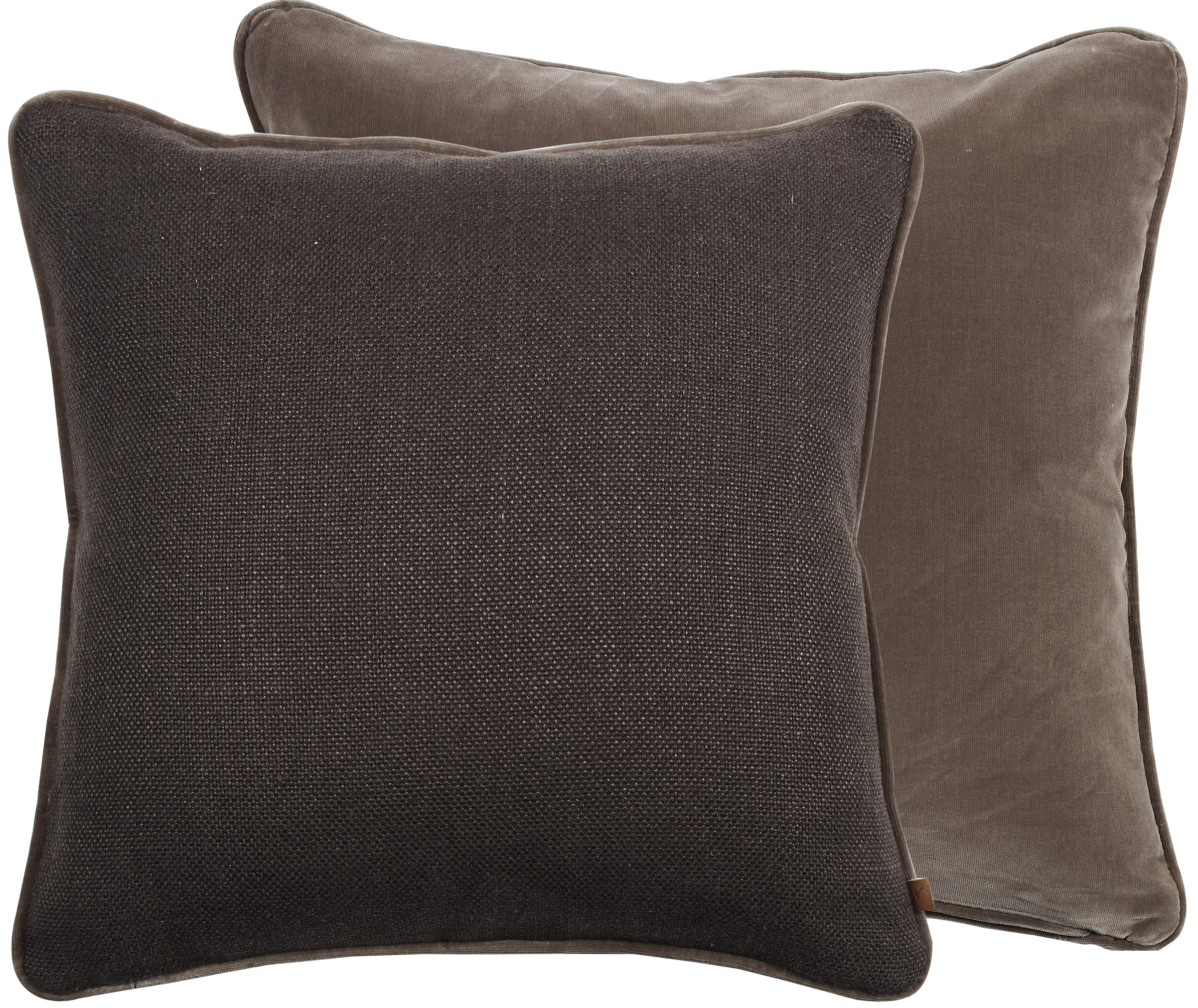 Camilla Cushion 45x45cm, Hugo Dark Rye & Isla Otter