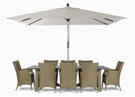 Stanway Bluestone 8 Seater & Cadiz carver set with Parasol
