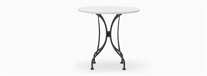 Boscombe 75 Round Table - Black & Marble