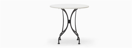 Boscombe 2 Seater Table, Black & Marble