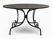 Boscombe 130 Round Table - Black & Granite