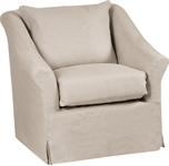 Long Island Armchair Cover, Pale Oat