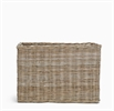 Somerton Rectangular log basket, large