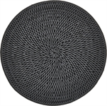 Ashcroft Round Placemat, Charcoal, Set of 6