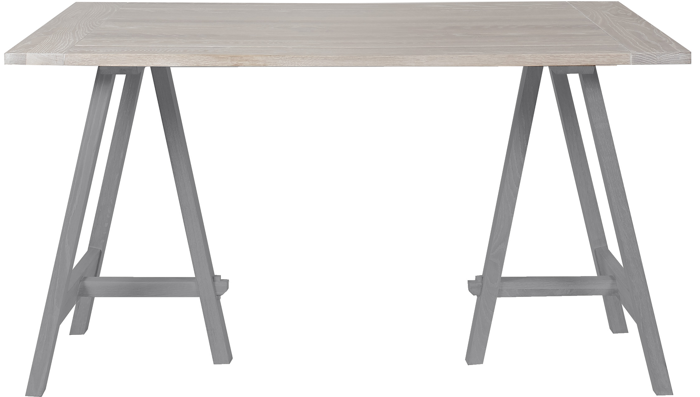 Hebden Dining Table, Oak Top & Painted Legs