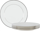 Fenton Dinner Plates, set of 6, Platinum