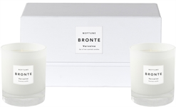 Bronte Verveine Scented Candles, White, Set of 2