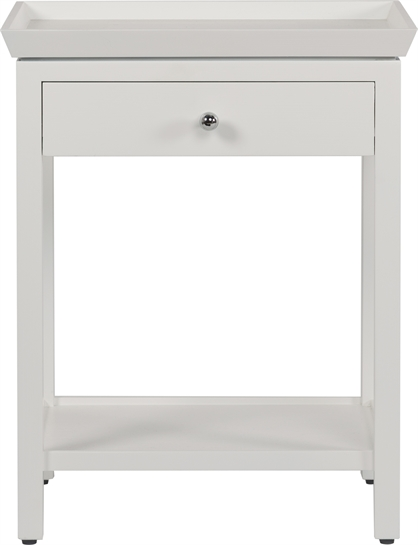 Aldwych Tall White Side Table Uk Neptune