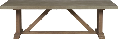 Hove 190 Rectangular Table - Concrete & Teak