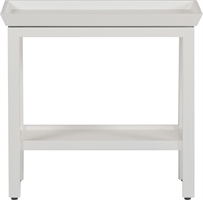 Aldwych Rectangular Side Table, Snow