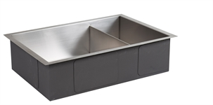 Neptune Contemporary Stainless Steel Sink With Wastes Medium