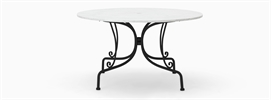 Boscombe 6 Seater Table, Black & Marble